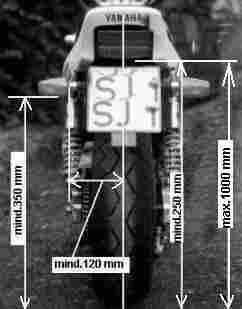 Motorrad blinker abstand